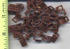 LEGO x 50 Reddish Brown Minifig, Neck Bracket NEW accessory