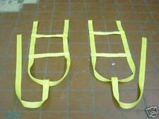 """DEMCO LOOPS 15""""-20"""" TOW DOLLY TIE DOWN STRAPS ADJUSTABLE WHEEL NET WINCH SHACKLE"""