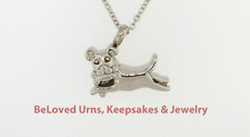 Dog Playing With Bone Cremation Jewelry Pendant Urn Chain - Dog, Cat, Pets
