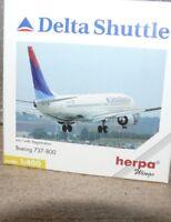 Z2 Herpa 560498 Boeing 737-800 Delta Shuttle unbenutzt
