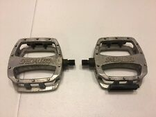 "Specialized Stamped BMX Bicycle Pedals Silver 1/2"" Old School Bike 291"