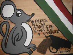 Henry Hill ORIGINAL ART GUNS AND MONEY BROOKLYN NEW YORK MOB RAT #Goodfellas