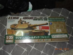 TAMIYA 1/35 R/C M1A1 ABRAMS  TANK MOTORIZED KIT FACTORY SEALED REMOTE