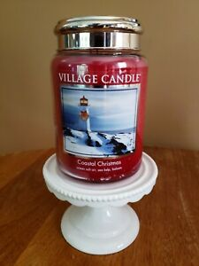 Village Candle 26 oz 2-wick COASTAL CHRISTMAS ~ New~ Discontinued
