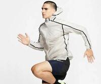 Nike Tech Pack wasserabweisende extrem leichte Laufjacke M hellgrau AQ6711-286