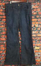 "J CREW Women's Jeans Dark Stretch Denim High Heel Flare Jeans Size 29"""