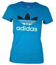 Magliette da donna, taglia comoda blu in cotone