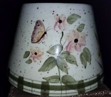 Home Interiors WILDFLOWER  Large Ceramic Candle Jar Topper Shade