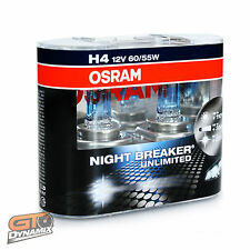 H4 Osram Night Breaker Unlimited Headlight Globes (TWIN SET) 64193NBU-HCB EXPRES