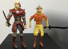 "Lot of 2 Avatar The Last Airbender 6"" action figures ZUKO AANG loose"