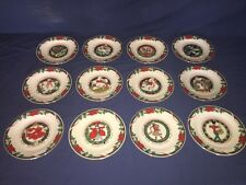 12 Tienshan China Deck The Halls ~ 12 Days Of Christmas ~  Accent Salad Plates