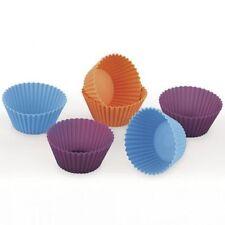 6 moldes magdalenas silicona Violett 7x3cm Lifestyle