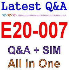 Best Exam Practice Material For EMC E20-007 Q&A PDF+SIM