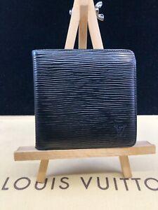 LV1722 Louis Vuitton Black Epi Leather Marco Bifold MENS Wallet