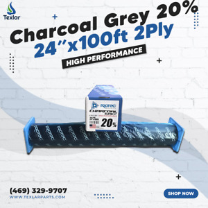 """Window Tint Charcoal Grey 20% Protec 24""""x100ft High Performance 2PLY"""