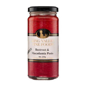 King Valley Fine Foods Beetroot and Macadamia Pesto 240g