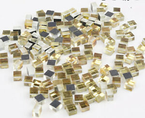 5MM Gold Mirror Glass Mosaic Tiles For Crafts Supplies Wall Artwork 180 Pieces