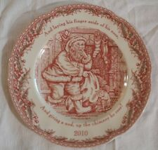 Noble Excellence Transfer Ware Twas Night Before Christmas 2010 Collector Plate