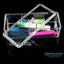 Clear Acrylic With Lid Makeup Organizer  Case Box Container Storage for Cosmetic