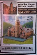 Schreiber-Bogen Kartonmodellbau Wasserschloss Mespelbrunn Maßstab 1:160