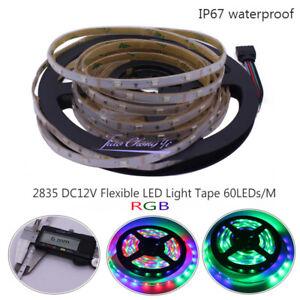 6mm Width DC12V LED Strip 2835 60led/m RGB  Flexible Strip Light  waterproof 5M