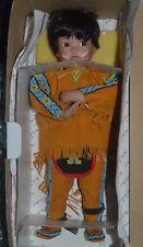 Little Chief Standing Bear by Karen Scott Porcelain Doll Danbury Mint 1995 Nib