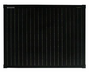 enjoysolar® Monokristallin 50W 100W 170W 12V schwarz Solarmodul Panel FULL BLACK