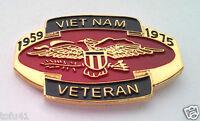 *** VIETNAM VETERAN 1959-1975 *** Military Veteran Hat Pin 14946 HO