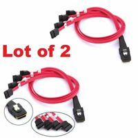 Lot of 2 Mini SAS to 4-SATA SFF-8087 Multi-Lane Forward Breakout Internal Cable