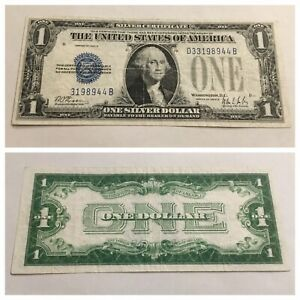 VINTAGE obstruction ERROR SEAL & SERIAL 1928-B ONE DOLLAR $1 SILVER CERTIFICATE