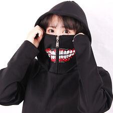 Anime unisex thick hoodie.Tokyo Ghoul.Kaneki Ken cosplay.Black mask coat.Cool.