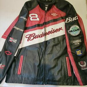 Wilson Leather Jacket Dale Earnhardt Jr 8Budweiser Large.  Snap-on, Remington