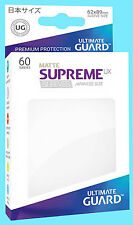 60 ULTIMATE GUARD SUPREME UX MATTE WHITE JAPANESE Card SLEEVES Deck Protector