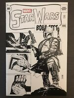 Star Wars Boba Fett #1 Sketch Variant 2015 Marvel Comic Book