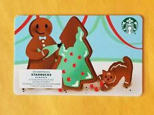 Starbucks 2020 Christmas Gift Card Gingerbread Man And Cat Reloadable Empty