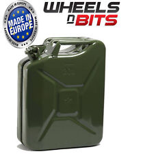 NEW HIGH QUALITY METAL POWER COATED INSIDE AN OUT JERRY CAN 20L LITRE CAN GREEN