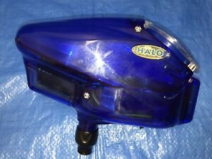 Halo V35 Victory Paintball Hopper Belt Drive Series Rip Drive Clear Blue in Box