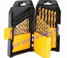 29 PC PIECE HSS METAL STEEL TITANIUM DRILL BIT SET KIT INDEX FOR METAL STEEL