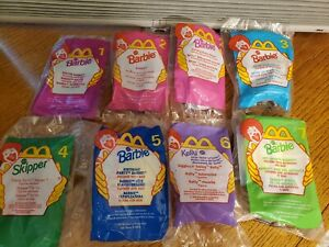 McDonalds Happy Meal Toys, Barbie 1998/99 lot of 8 Sealed Skipper Kelly Soccer
