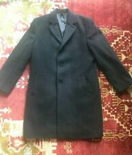 Hickey Freeman Cashmere Blend Wool Coat Size Charcoal Black sz. 42R, Classic Fit