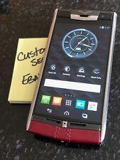 Genuine Brand NEW Vertu Signature Touch Claret Calf leather Luxury Phone RARE!