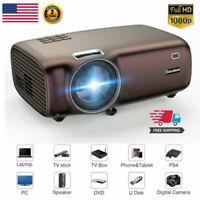 FULL HD 1080P 3D Smart LED Projector 5000Lumens Home Cinema Theater For Phone PC