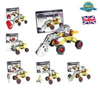METAL CONSTRUCTION KIT Toy Kids Model Building Boys Play Set Truck Digger Crane
