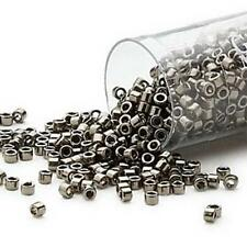 DB0452 Miyuki Delica Seed Beads  7.5g Tube Nickel Dk Silver *UK EBAY SHOP*
