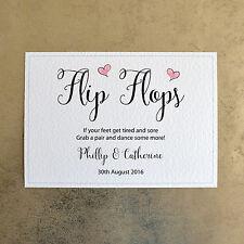 Wedding Flip Flops Sign - Personalised with Bride & Groom Names & Wedding Date