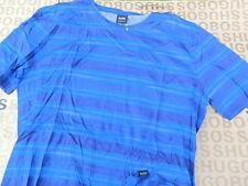 HUGO BOSS Men's Short Sleeve Striped Casual Shirts & Tops