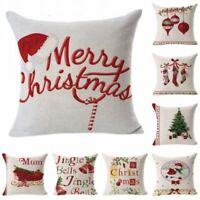 Christmas Pillow Case  Cotton Linen Sofa Car Throw Cushion Cover Home Decor