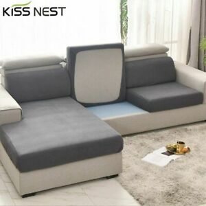 Elastic Sofa Seat Cushion Cover For Living Room Washable Protector Slipcovers