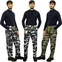 Mens Zip Off Shorts 3 IN 1 Camouflage Trousers Combat Cargo Army Work Pant M-3XL