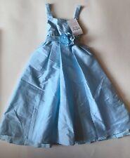 NWT US ANGELS Girls Size 10 Flowergirl Dress Light Blue Wedding Party NEW